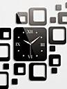 Horloge murale stickers autocollants muraux, des carres de mode miroir acrylique stickers muraux