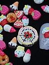 100pcs resine de peinture 3d art gateau de decoration des ongles