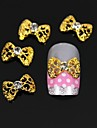 10pcs   Golden Hollow Bow Tie 3D DIY Alloy Nail Art Decoration