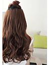 synthetique a longue vague 5 clip-in extensions de cheveux