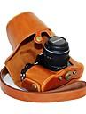 dengpin® läder skyddskameraväska olja huden med axelrem för Olympus OM-d e-m10 med 14-42mm objektiv