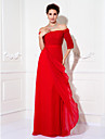 Prom / Formal Evening / Military Ball Dress - Plus Size / Petite Sheath/Column Off-the-shoulder Floor-length Chiffon