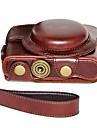 pajiatu® retro pu huile de cuir camera peau sac de cas protection couverture pour Sony DCS-rx100ii m2 / RX100 iii m3