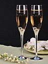 Personalized Toasting Flutes Fresh Whole Drill Small Double Heart- Set of 2