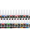 dragonhawk® tatuering föra bläck pigment komplett uppsättning 28 färg 5 ml