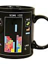 retro 80-tal spel muggar tetris värmefärgförändring kaffekopp keramiska (3.2x.2x3.8 tum)