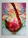 Oil Paintings One Panel Modern Still Life Wine Cup  Hand-painted Canvas Ready to Hang