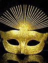 Luxurious Glitters Golden PVC Holiday Half-face Mask Halloween Props Cosplay Accessories