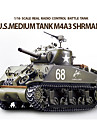 Heng Long SHERMAN M4A3 1/16 Echelle RC Tank Battle avec de la fumee simulee