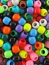 ca 300pcs blandad 8x9mm pärlemor ponny pärlor för regnbåge vävstol band armband DIY tillbehör