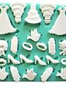 finskor bakning fondant tårta choklad godis mögel, l11.6cm * w11.6cm * h0.9cm