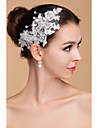 Women\'s Lace / Rhinestone Headpiece-Wedding Flowers Clear