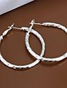 r&cercle d boucles d\'oreilles en metal argente