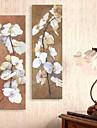 sträckta canvas konst oljemålning stil blomma grenar set om 2