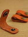 lan canette en cuir enrouleur pour le cable des ecouteurs