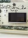 doudouwo® väggdekorationer väggdekaler, blommigt de ädla och vackra blommor pvc väggdekorationer