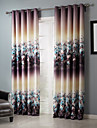 Blackout Dreamlike Floral Clusters Curtain Two Panels