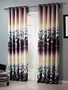 Två paneler Rustik Blommig/Botanisk Purpur Bedroom Polyester Blackout Gardiner draperier