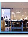 zooyoo® mignon colore PVC amovible image carrige noel de stickers muraux chaudes stickers muraux de vente pour la decoration interieure