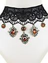Lewen® Women\'s Flowers Lace Ladies Necklace Pendant Crystal