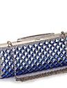 L.WEST®  Women\'s  Event/Party / Wedding / Evening Bag Diamonds Corrugated Diamonds Delicate Handbag