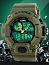Da uomo Guarda Quarzo giapponese Orologio sportivo LCD / Calendario / Cronografo / Resistente all\acqua / Due fusi orari / allarme Gomma