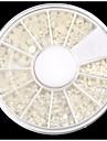 mixte taille en demi-cercle blanc perle nail art decorations