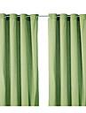 un oeillet de panneau superieur minimaliste vert economie d\'energie solide rideau drape