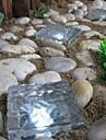 solar tegel isbit väg ljus kristall trädgård lampa