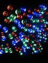 17m 100 dirigee solaire lampe de chaine de lumieres de Noel alimente bande de lumiere clignotante interieur et exterieur - rgb