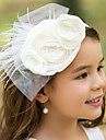 Women\'s/Flower Girl\'s Tulle/Silk Headpiece - Wedding/Special Occasion Flowers