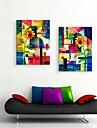 art de toile tendue tournesol aquarelle abstraite decoration ensemble de deux