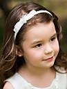 כיסוי ראש הסרט של ילדי ילדה פרח טול וbowknot ריינסטון