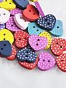cardiaques point scrapbook forme scraft coudre des boutons en bois de bricolage (10 pieces couleur aleatoire)