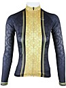 PALADIN® Maillot de Cyclisme Femme Manches longues Velo Respirable / Sechage rapide Maillot / Hauts/Tops 100 % Polyester Mosaique