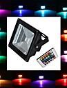 20W Projecteurs LED 1 LED Haute Puissance 1900 lm RVB Commandee a Distance AC 85-265 V