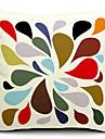 multicolor vattendroppe bomull / linne dekorativa örngott