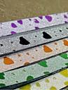 18 pieces motif de coeur de la poudre de paillettes bonne etoile materiaux d\'origami (couleur aleatoire)