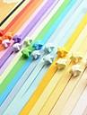 2 x 90 pcs couleur fluorescente materiaux d\'origami lucky star (couleur aleatoire)