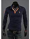 hillgo bodycon cu maneca lunga cămașă de moda pentru bărbați