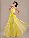 TS Couture® Prom / Formal Evening / Military Ball Dress - Elegant / Open Back Plus Size / Petite Sheath / Column One Shoulder Floor-length Chiffon