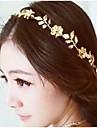 floare de aur de epocă și frunze de cristal hairband Banda lanț cap păr bijuterii de păr accessires bijuterii cap