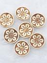 sömnad blommönster scrapbook scraft diy kokosskal knappar (10 st)
