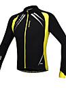 SANTIC® Veste de Cyclisme Homme Manches longues VeloRespirable Garder au chaud Pare-vent Design Anatomique Doublure Polaire Zip frontal