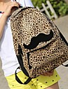 Women's Leopard Backpack With Beautiful Colleague Mustache Backpack