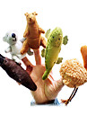 5pcs australiens djur plysch fingerdockor ungar prata prop
