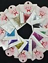 100st naturliga heltäckande tips för franska spik akryl gel