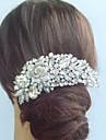epocă flori de nunta din aliaj de cristal stras pieptene de mireasă femei