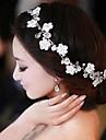 Femei Perle Ștras Oțel inoxidabil Diadema-Nuntă Cordeluțe