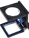 8x loupe pliage loupe avec source de lumiere LED